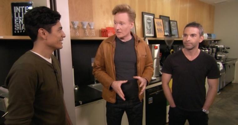 Conan O'Brien Visits Intelligentsia